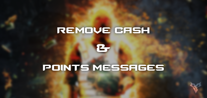 Remove Cash and Points Messages